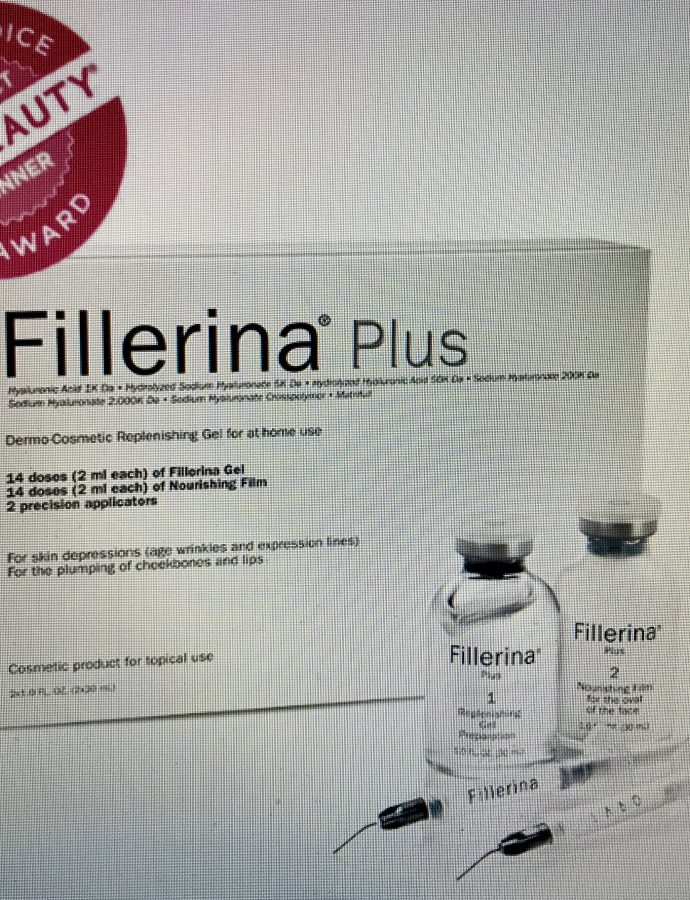 Disappear winkles without filler injections!  FILLERINA at home treatment…